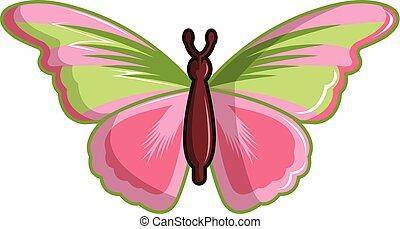 Esmeralda butterfly icon, cartoon style - Esmeralda...