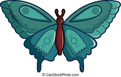 Butterfly morpho anaxibia icon, cartoon style