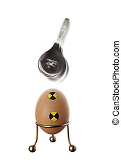 Not an eggxact scince - An crash test egg defeating a spoon