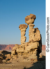 Rock formations in Argentina - Sandstone formation in...