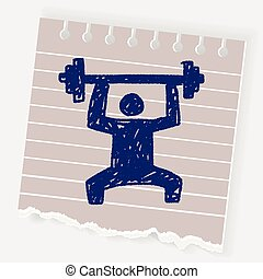 weightlifting doodle