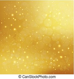 Abstract golden background with sparkling shiny stars and...