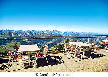Saentis Mountain landscape, Swiss Alps - Saentis Mountain...