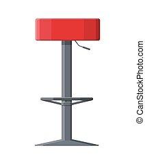 Barstool chair. Pub club bar trendy equipment.