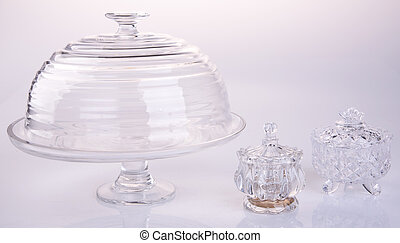 cake stand or glass cake tray on a backgeound. - cake stand...