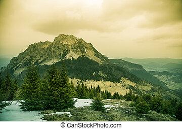 A beautiful Rozsutec mountain view of Mala Fatra in...