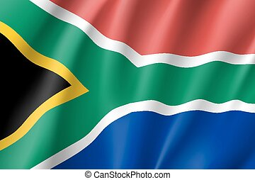 South Africa flag. National patriotic symbol in official...