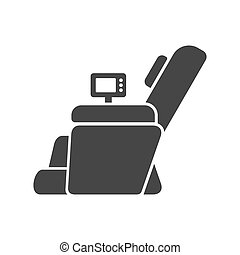 Massage Chair Icon on White Background. Vector