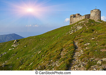 The old observatory on Mount Pip Ivan in Carpathians