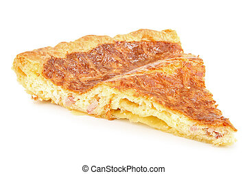 quiche - isolated slice of quiche