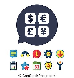 Currency exchange sign icon. Currency converter. - Currency...