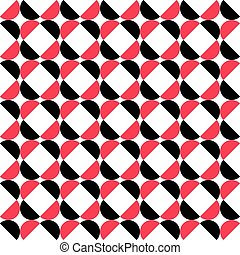 58-3 - Seamless Curved Shape Pattern. Vector Black and Red...