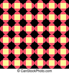 58-4 - Seamless Square and Circle Pattern. Abstract...