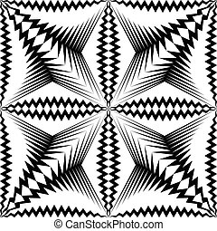 Seamless Star Pattern. Vector Black and White Wrappimg Paper...