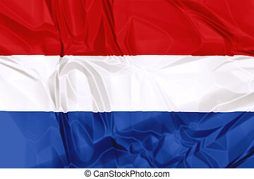 Flag of Netherlands - The national Netherlands waving flag...