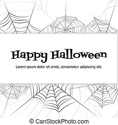 Vector spider web. - Spider web. Black and white vector...