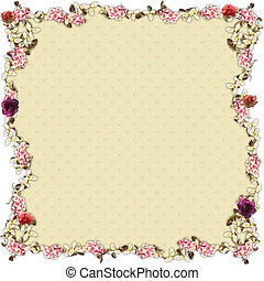 flowery sensation - frame or border for collage and...