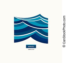Water Wave Logo abstract design.