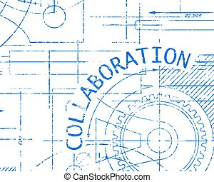 Collaboration Graph Paper Machine - Collaboration word on...