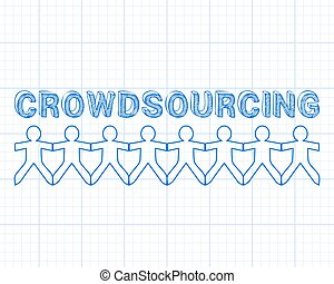 Crowdsourcing People Graph Paper - Crowdsourcing hand drawn...