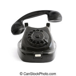 Ringing phone - Vintage black telephone with taken off...