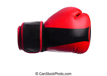 one black and red boxing mitts on a white background - black...