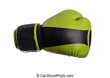 one black boxing mitts on a white background - black boxing...