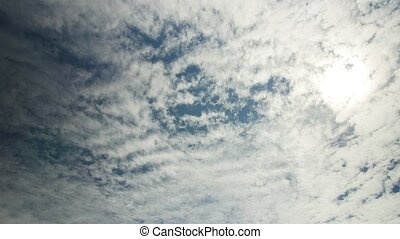 cirrocumulus clouds and sun - cirrocumulus clouds in the sky