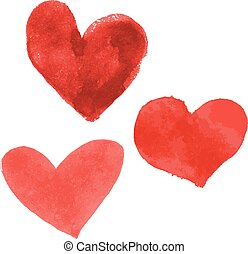 Set of hand drawn hearts - Set of hand drawn hearts isolated...