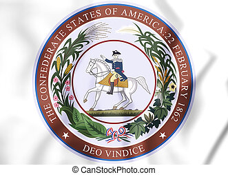 3D Seal of Confederate States of America. 3D Illustration.