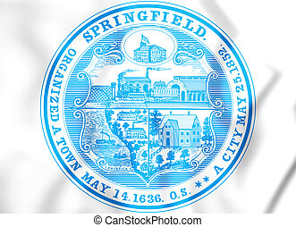 3D Seal of Springfield (Massachusetts), USA. 3D...