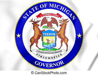 Governor of Michigan Seal, USA.