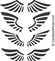 wings isolated on white background. Design elements for...