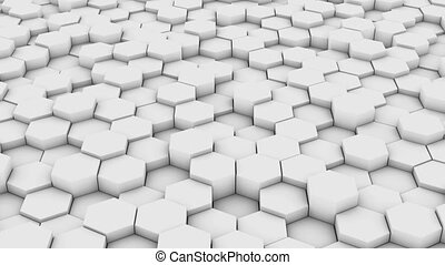 network of hexagons - A network of hexagons , which change...