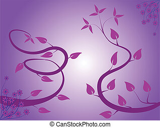 An abstract mauve floral background