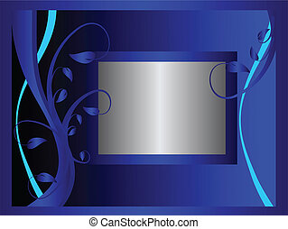 A blue formal floral background