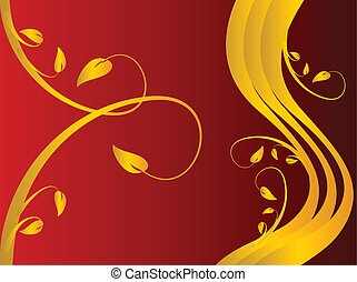 A red formal floral background