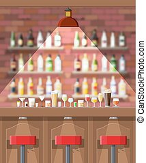 Interior of pub, cafe or bar. - Drinking establishment....