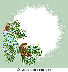 The christmas decoration placard. Illustration in vector...