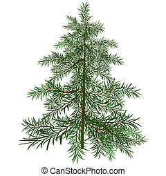 The green Christmas tree Illustration in vector format EPS