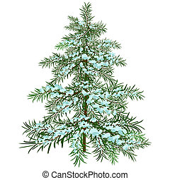 The Winter Christmas tree Illustration in vector format EPS...