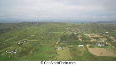 Aerial, Irish Cliffs, County Cork, Ireland - Native...
