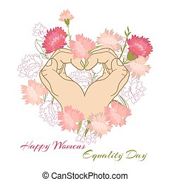 Holiday greetings illustration Womens Equality Day. Vector...