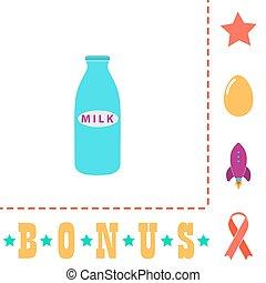 Milk bottle computer symbol - Milk bottle Simple vector...