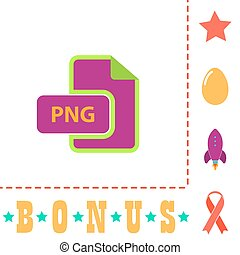 PNG computer symbol - PNG Simple vector button. Flat color...