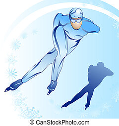 Stylized skater with a silhouette_1 - Stylized illustration...