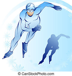 Stylized skater with a silhouette_2 - Stylized illustration...