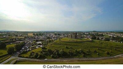 cashel, Luftaufnahmen, grafschaft,  tipperary, irland, gestein