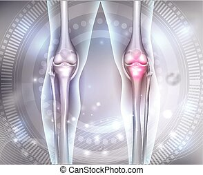 Joint health care abstract background with beautiful glow at...