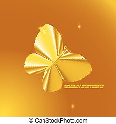 Gold butterfly. Abstract vector illustration